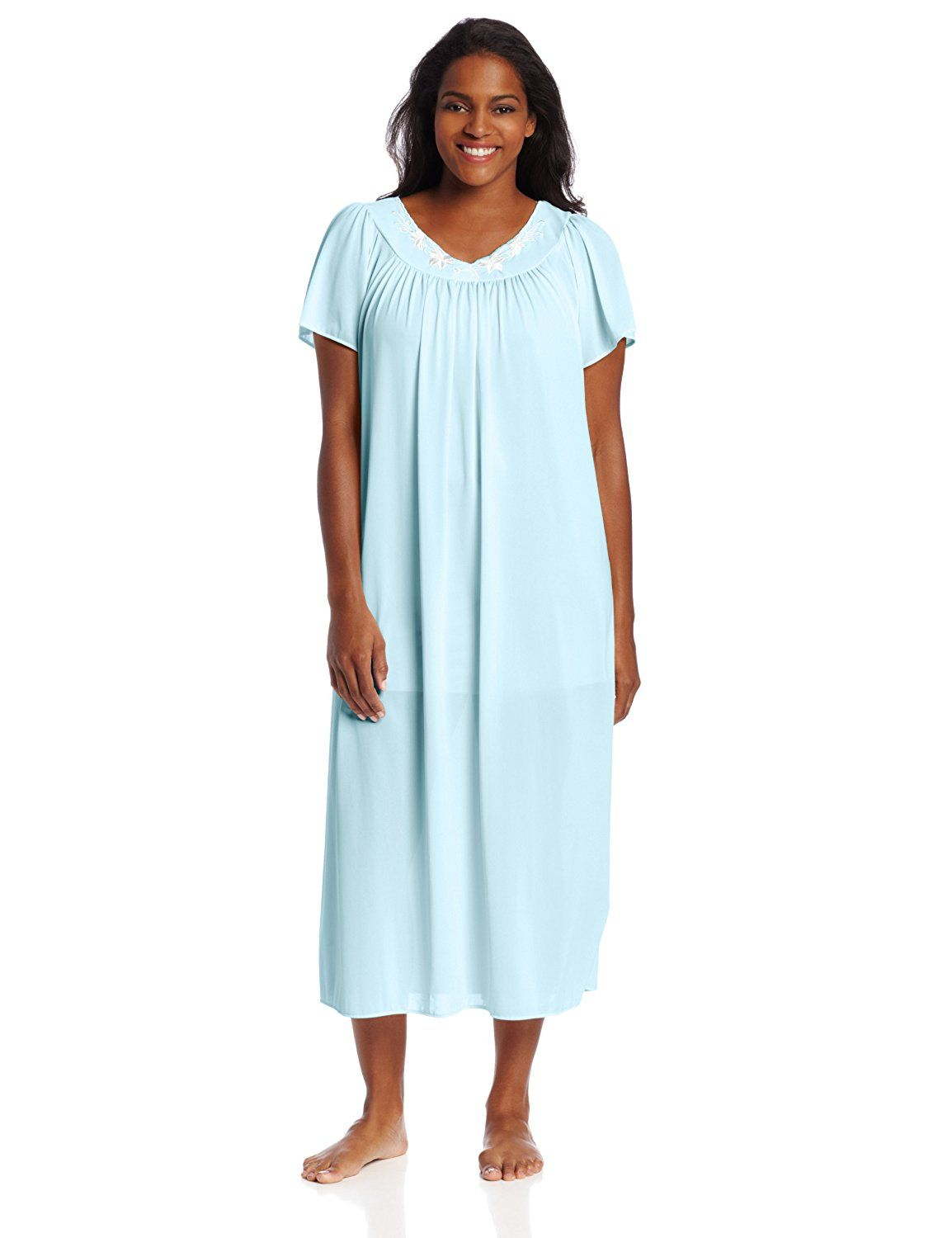 Miss Elaine Women s Plus-Size Tricot Long Flutter Sleeve Gown     This is  an Amazon Affiliate link. Click image for more details. 7d11cdb6e