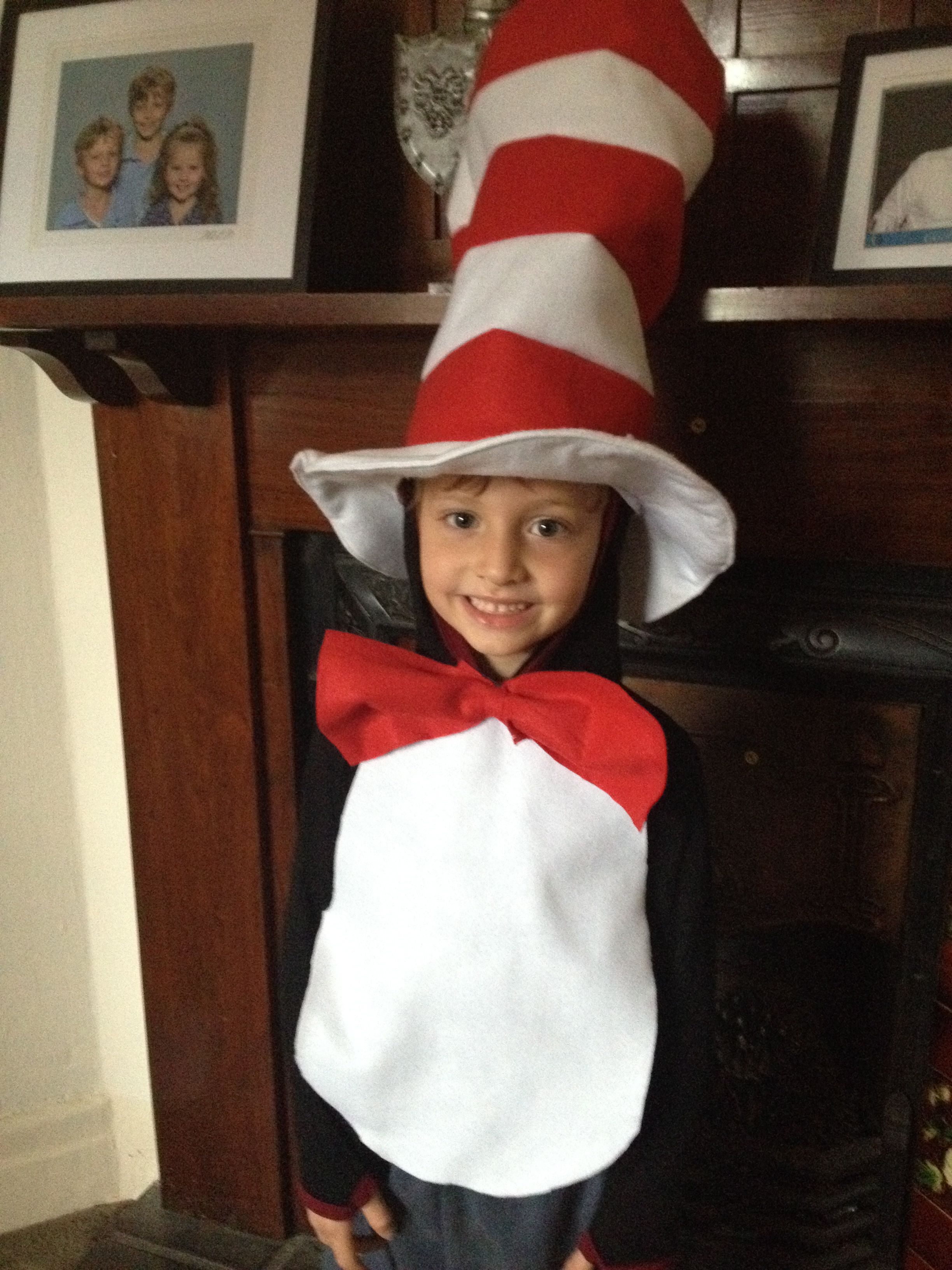 the cat in the hat, made for the school's book week
