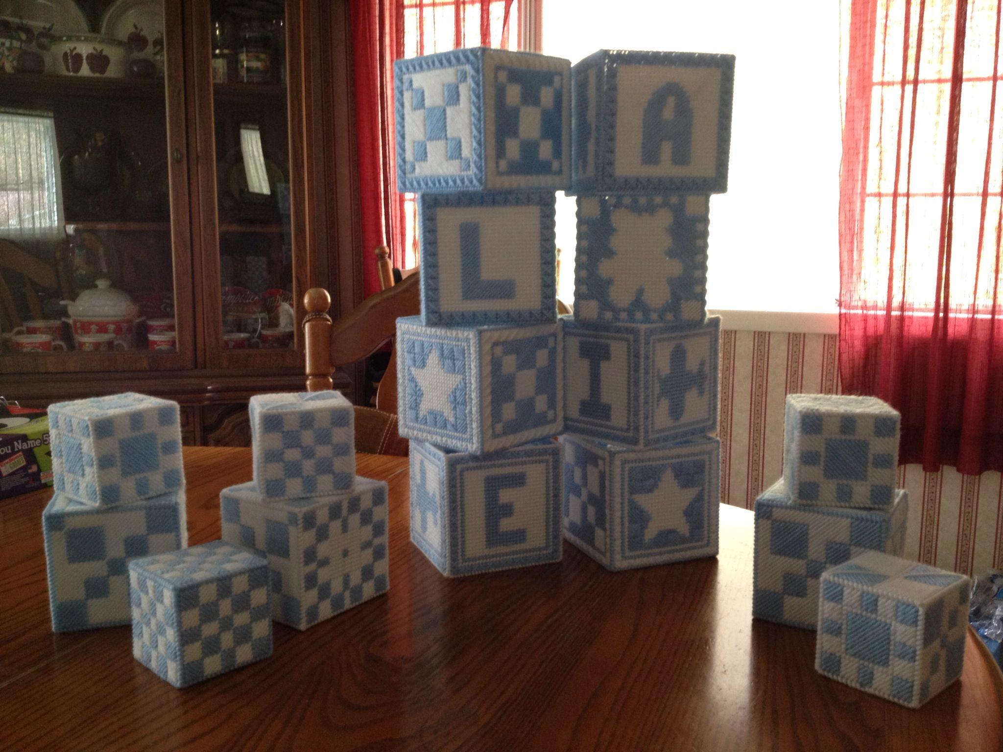 Plastic canvas boxes large ones for centerpieces plus flowers