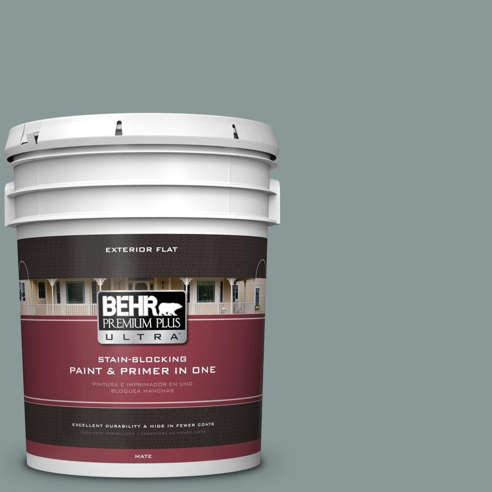 BEHR Premium Plus Ultra 5-gal. #N430-4 Rainy Afternoon Flat Exterior Paint