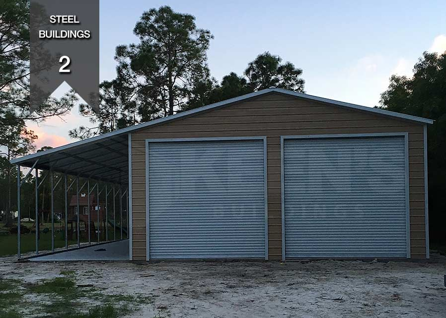 Steel Building Specifications 24 Wide 2 10x10 Doors 12 Lean To Steel Buildings Building Steel