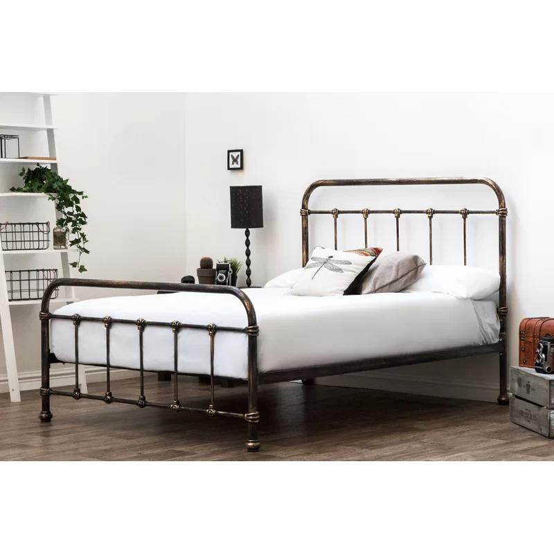 Pereira Victorian Hospital Bed Frame Black metal bed