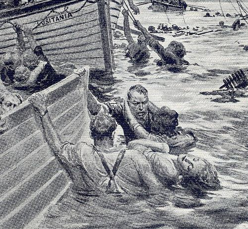"""the sinking of the lusitania In the spring of 1915 the germans' only means of attack were submarines commanders were given orders to fire without warning – no allied ship was safe the germans would later justify the sinking of the lusitania because the ship was carrying """"contraband of war"""" – munitions."""