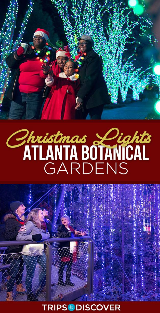 2 Million Twinkling Lights Cover This Winter Wonderland in Georgia #botanicgarden
