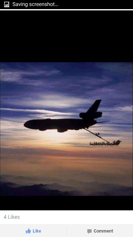 Airplane and Santa's Sleigh
