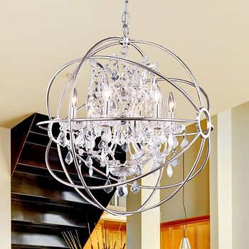 Lighting by pecaso metro chandelier in polished nickel 275l x 25 lighting by pecaso metro chandelier in polished nickel 275l x 25w 28lbs number of lights 6 aloadofball Image collections