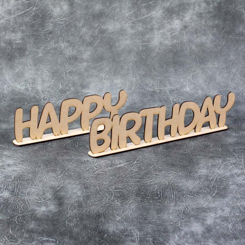 Happy Birthday Freestanding Words Craft Sign Happy Birthday Signs Wooden Words Birthday Sign