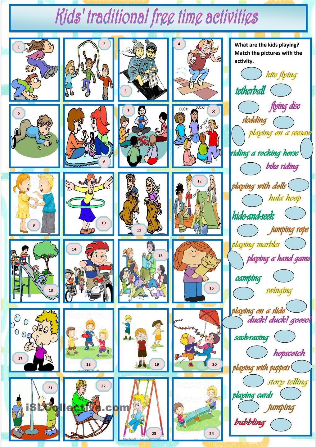 Pin by Natalia on ESL 2 | Pinterest | Time activities, Free time and ...