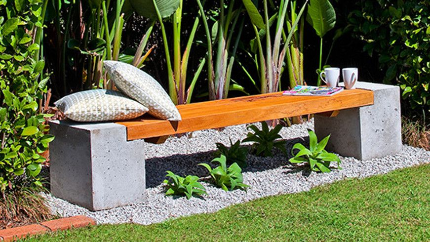How To Make A Concrete And Timber Bench Outdoor Garden