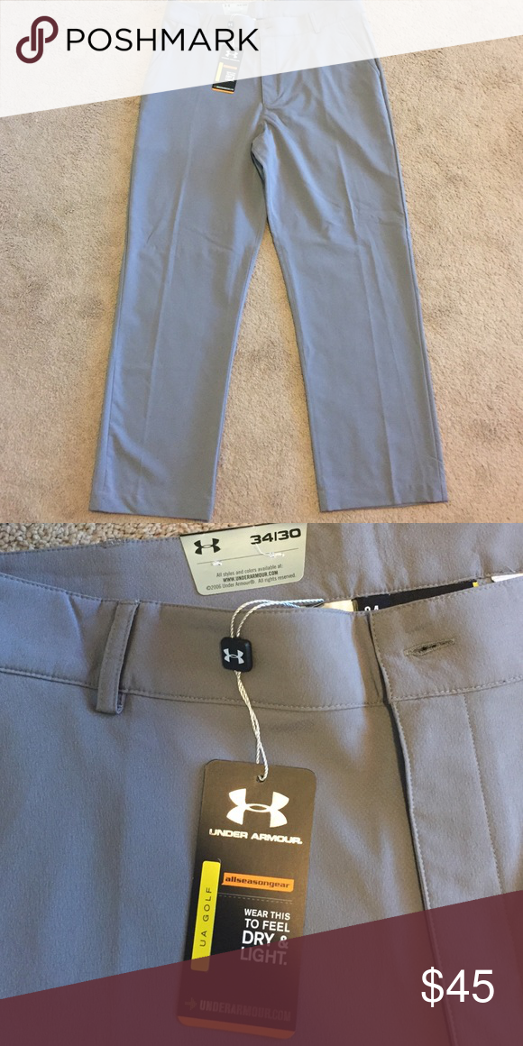 Cleaning out our closet Men's Under Armour Dry & Light straight leg golf pants. Graphite color. Under Armour Pants Chinos & Khakis