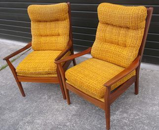Lovely MID CENTURY DON FURNITURE NZ HIGH BACK CHAIRS