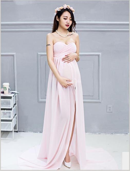 4c752e83213 Sleeveless Chiffon Maternity Dress Photo Prop(Multi-color Optional ...