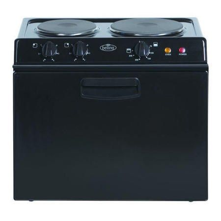 Belling BABY BELLING 321R Compact Electric Cooker Black 444440669 ...