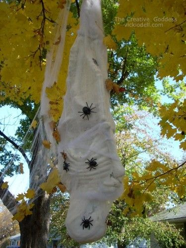 Halloween Decorations - How to Make a Spider Victim Spider - halloween decorations spider