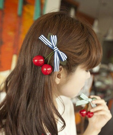 Aliexpress.com : Buy 76155 accessories cherry bow side knotted clip duckbill clip hair clip from Reliable hair jewelry suppliers on Jessie's shop. $7.32