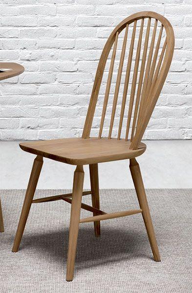 Silla comedor con barrotes en madera de teca natural, silla madera ...