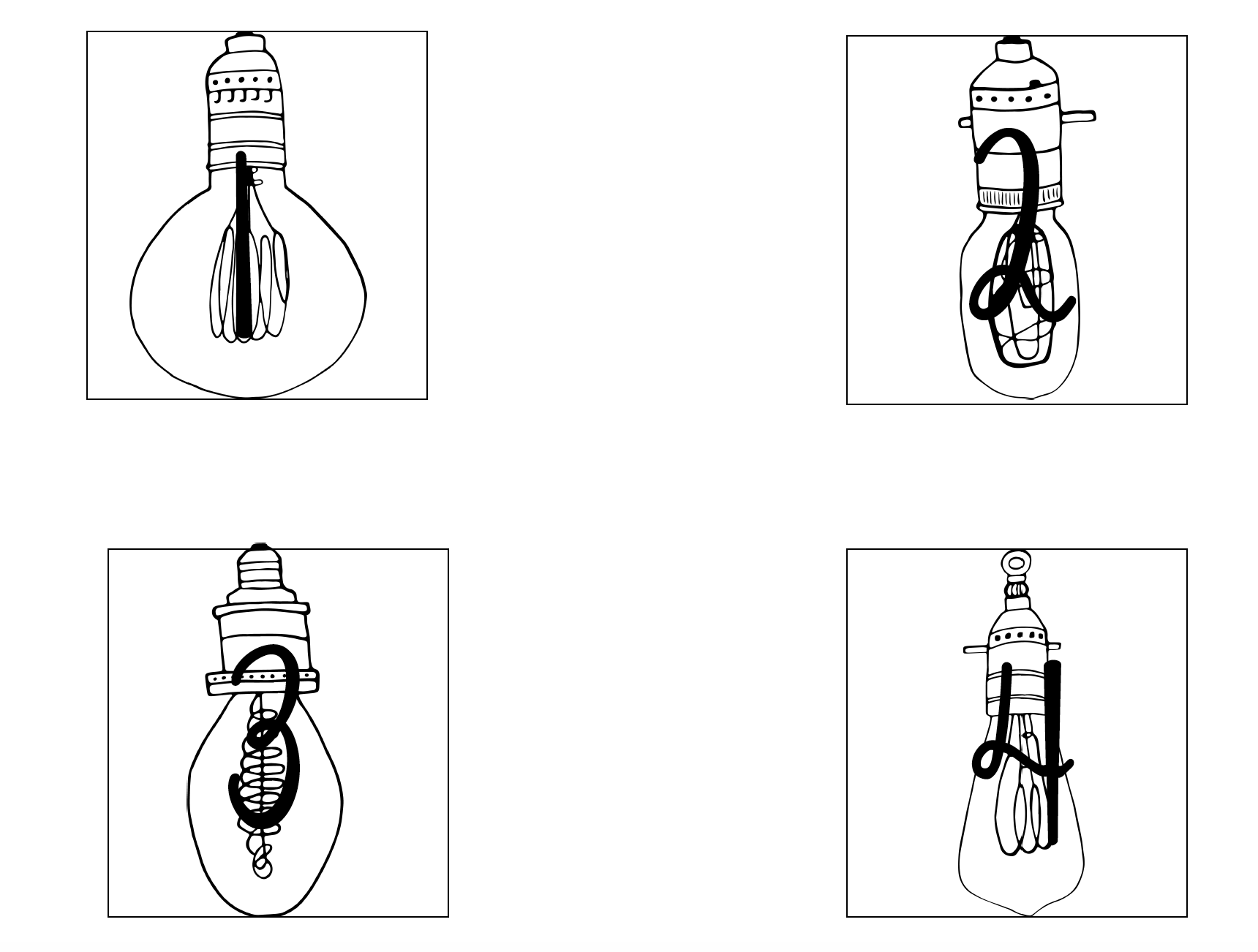 Lightbulb Number Labels Posters