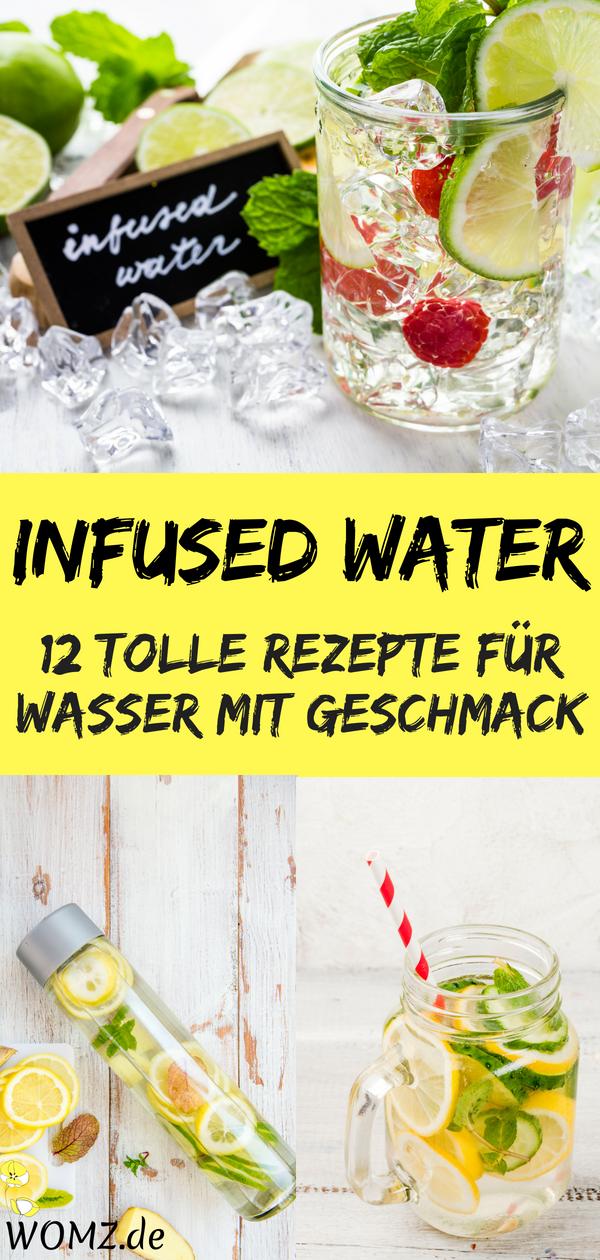 Wasser mit Geschmack selber machen ist ganz einfach. Mit meinen Infused Water Rezepten findest du to...