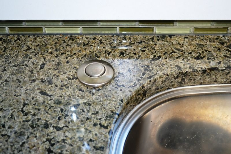 Kitchen Remodel Garbage Disposal Button On Counter Top