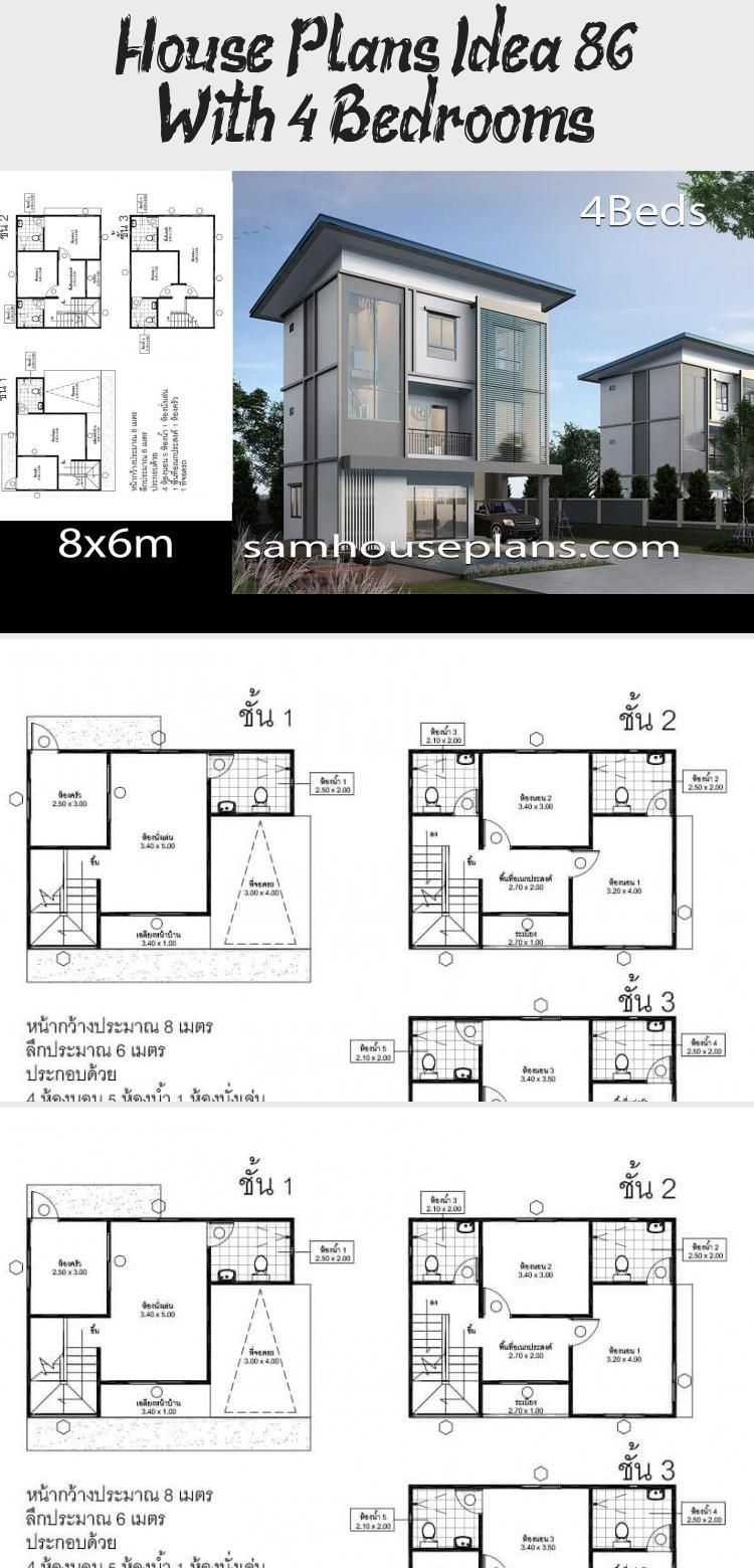 House Plans Idea 8x6 With 4 Bedrooms Sam House Plans Floorplans4bedroomcolonial Floorplans4bedroom In 2020 Architecture House Plans Landscape Architecture Graphics