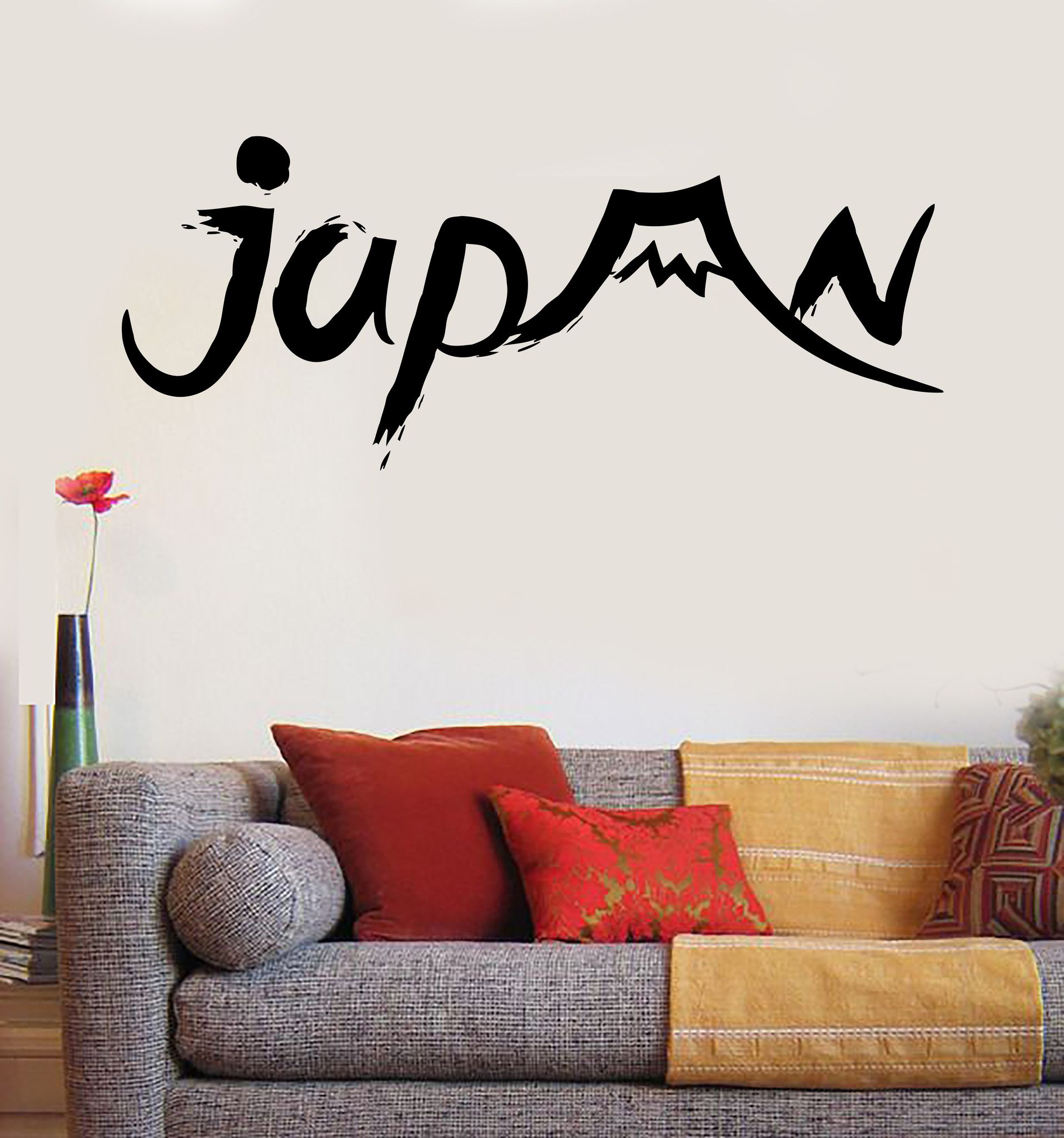 Vinyl Wall Decal Japan Japanese Mount Fuji Oriental Decor Stickers - How do you put up vinyl wall decals