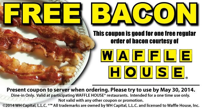 Astounding Free Bacon At Waffle House Coupon Dealz Waffle House Download Free Architecture Designs Licukmadebymaigaardcom