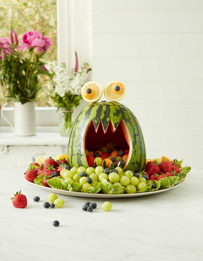 How to make a watermelon monster your own little monsters will LOVE to eat - and help make!