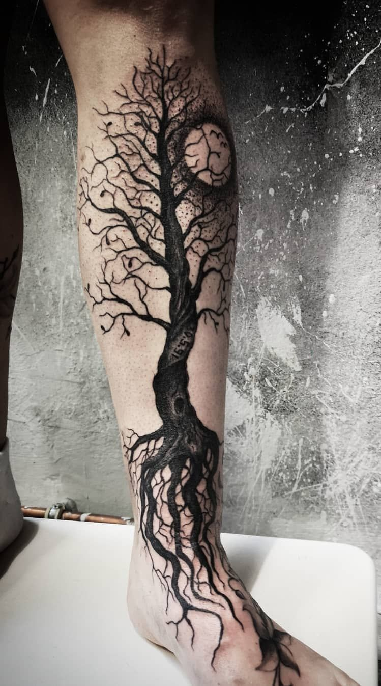 Photo of 50 beautiful and meaningful tree tattoos, inspired by the way of nature …