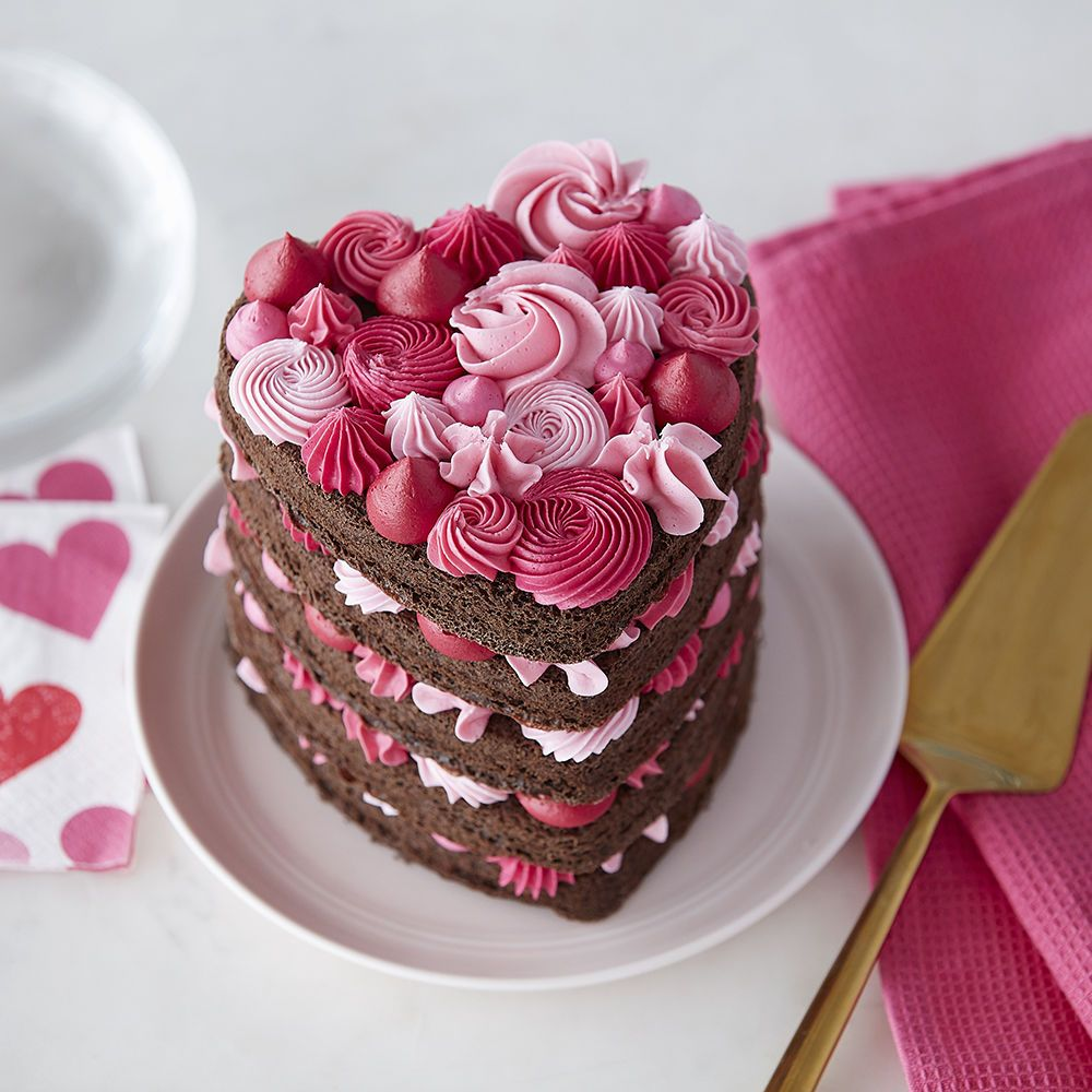 Heart shaped cake with pink layers recipe heart shaped