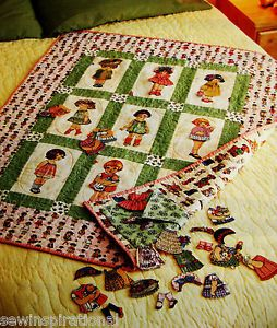 Paper Dolls Quilt Pattern Easy Strip Piecing Paper Doll