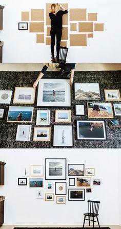 Fotowand Selber Machen: Ideen Für Eine Kreative Wandgestaltung. Bilder  WohnzimmerWohnzimmer ...
