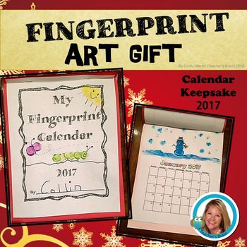 2018 Calendar for Parent Gift Fingerprint ART Keepsake GIFT UPDATED
