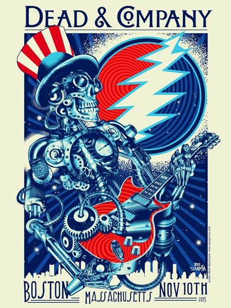 dead and company concert posters grateful dead poster dead company. Black Bedroom Furniture Sets. Home Design Ideas