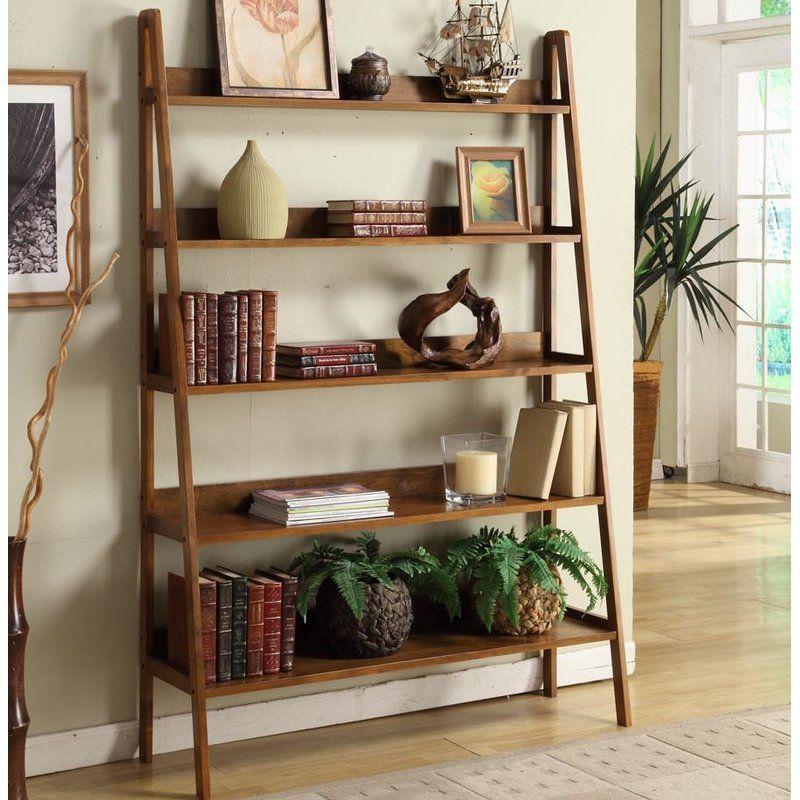 Ladder Bookcase Leaning bookcase, Ladder bookcase