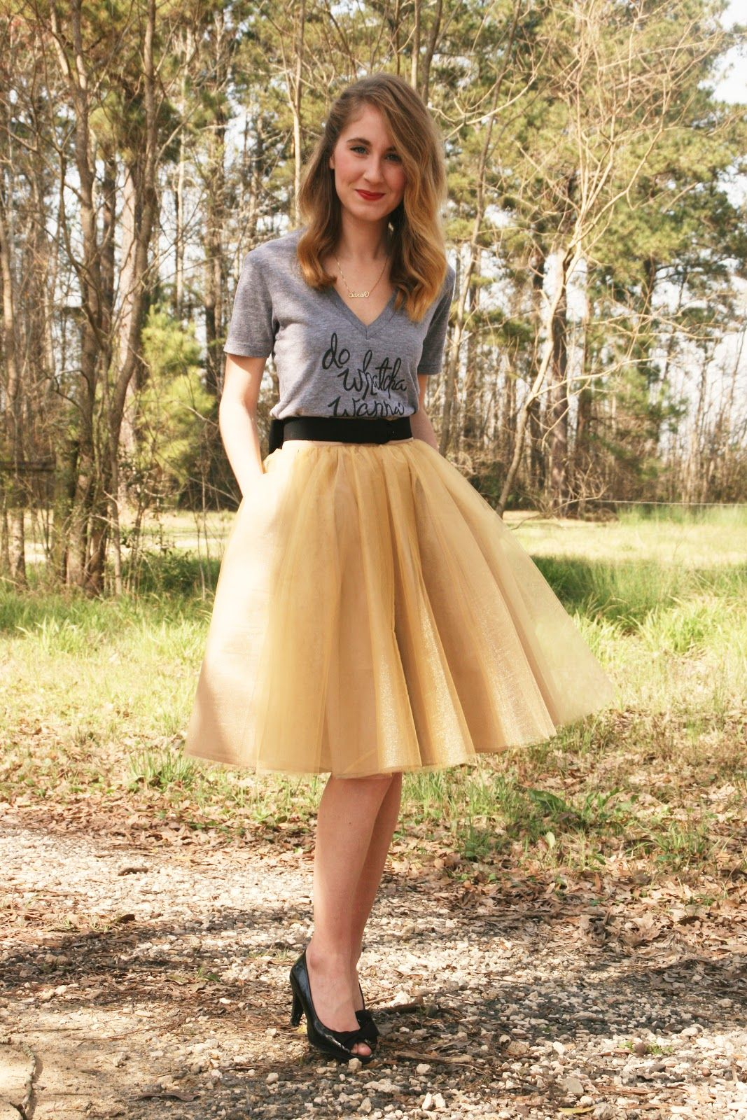 1f5c0bc9f eshakti gold tulle skirt | Closet | Pinterest | Moda mujer, Como ...
