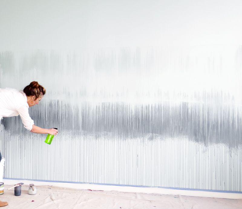 Wandgestaltung Selber Machen Mit Farben Coole Muster Streichen Wandbild Wand Wandgestaltung Aquarell Wande