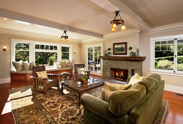 Pin By Chris On Decor Living Room Craftsman Style Interiors Craftsman Style Decor Craftsman Interior
