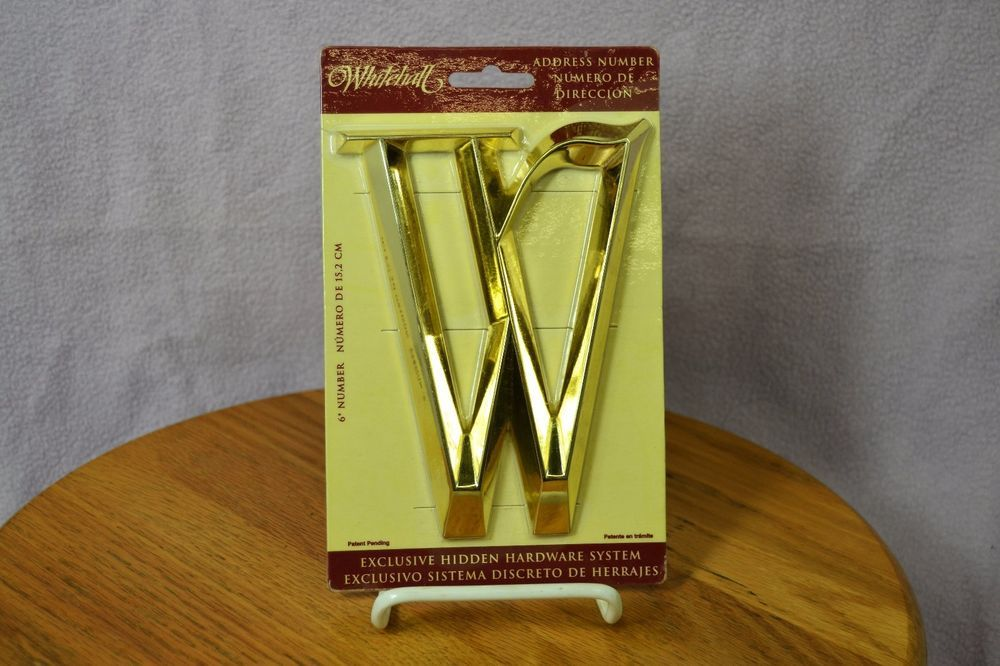 Whitehall Door House Address Street Number Letter W Polished Brass 6  152mm : whitehall door - pezcame.com