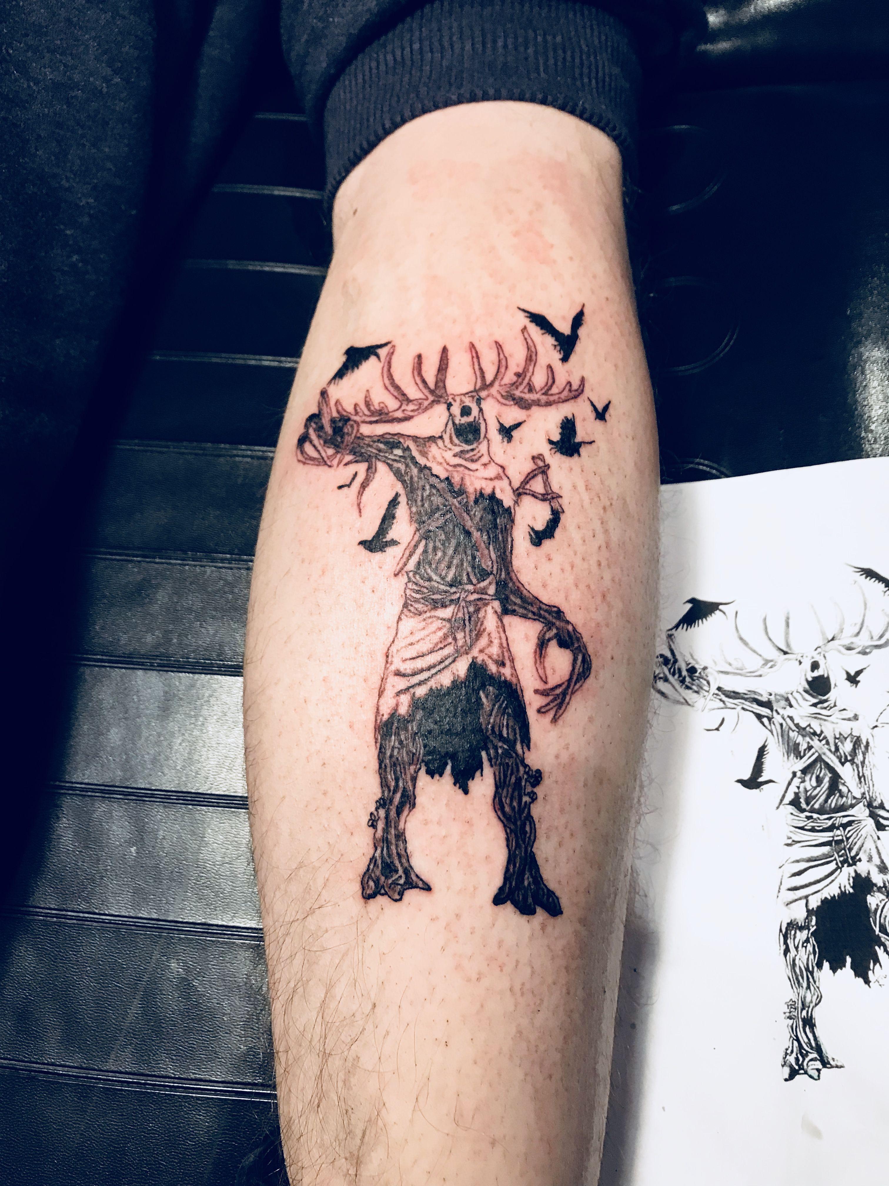 Leshen tattoo by me tattoo witcher leshen