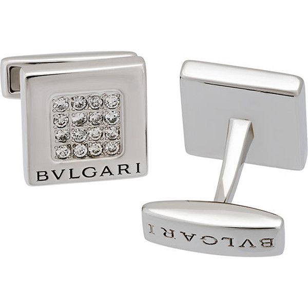 Bvlgari 18k White Gold Diamond Square Cuff Links 9I6Ds4m