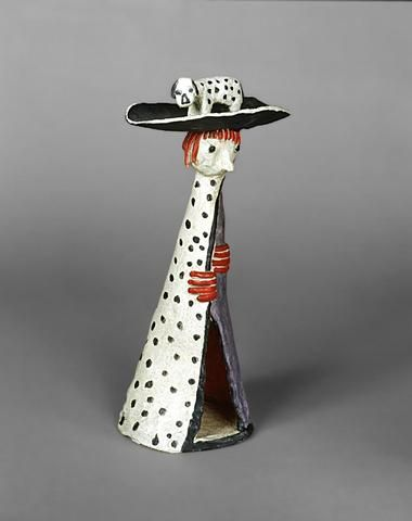 Jean LAMBERT-RUCKI (1888-1967) Petit Roi Mage, 1950 Bronze polychrome,