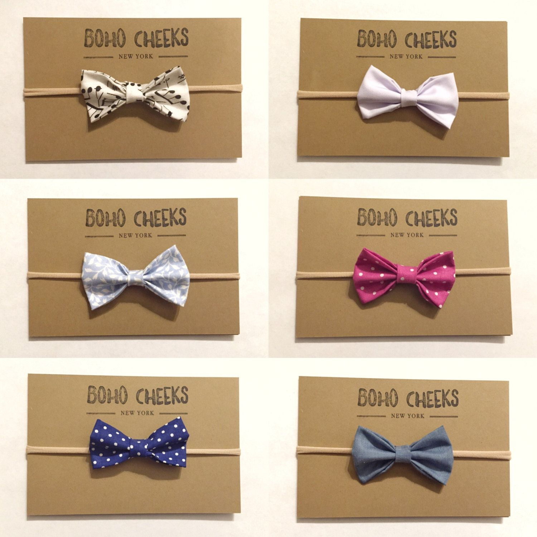 e92822a41343 Nylon head band, baby girl nylon band, nylon bow headband, nylon, black tie  bow tie by BohoCheeks on Etsy