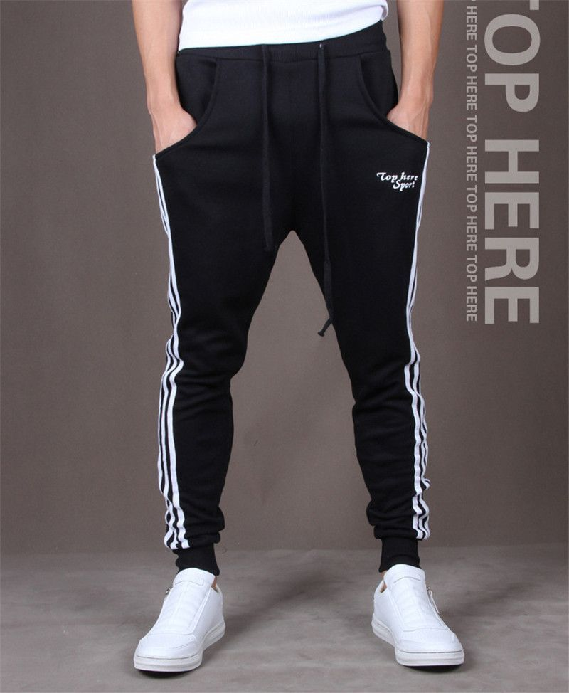 58631abe New Fashion Mens Track Pants Skinny Harem Sweatpants Casual Skinny  Tracksuit Bottoms Pants Trousers Hot Sell casual Pants