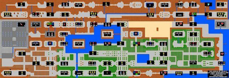 Zelda Nes Map zelda game map 13legendofzelda secondquest hyruleitems ...