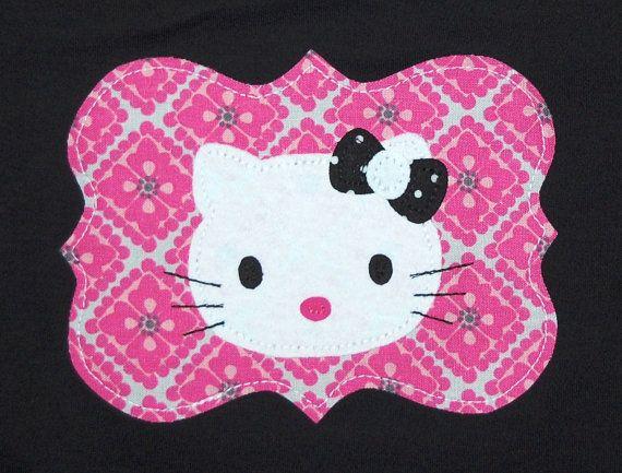 Hello kitty applique for shirt crafty love pinterest kitty