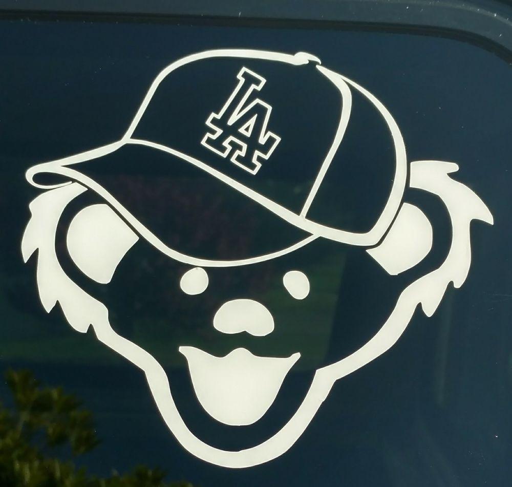 Grateful Dead Los Angeles Dodgers Decaljerry Bearbaseball Hat - Custom vinyl stickers los angeles