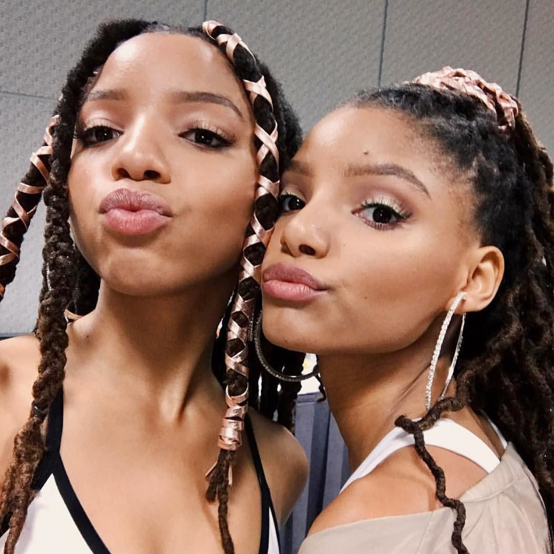 tv scoop chloe x halle have landed a recurring role on freeform s black ish spinoff grown ish get the chloe halle chloe x halle beautiful dreadlocks pinterest