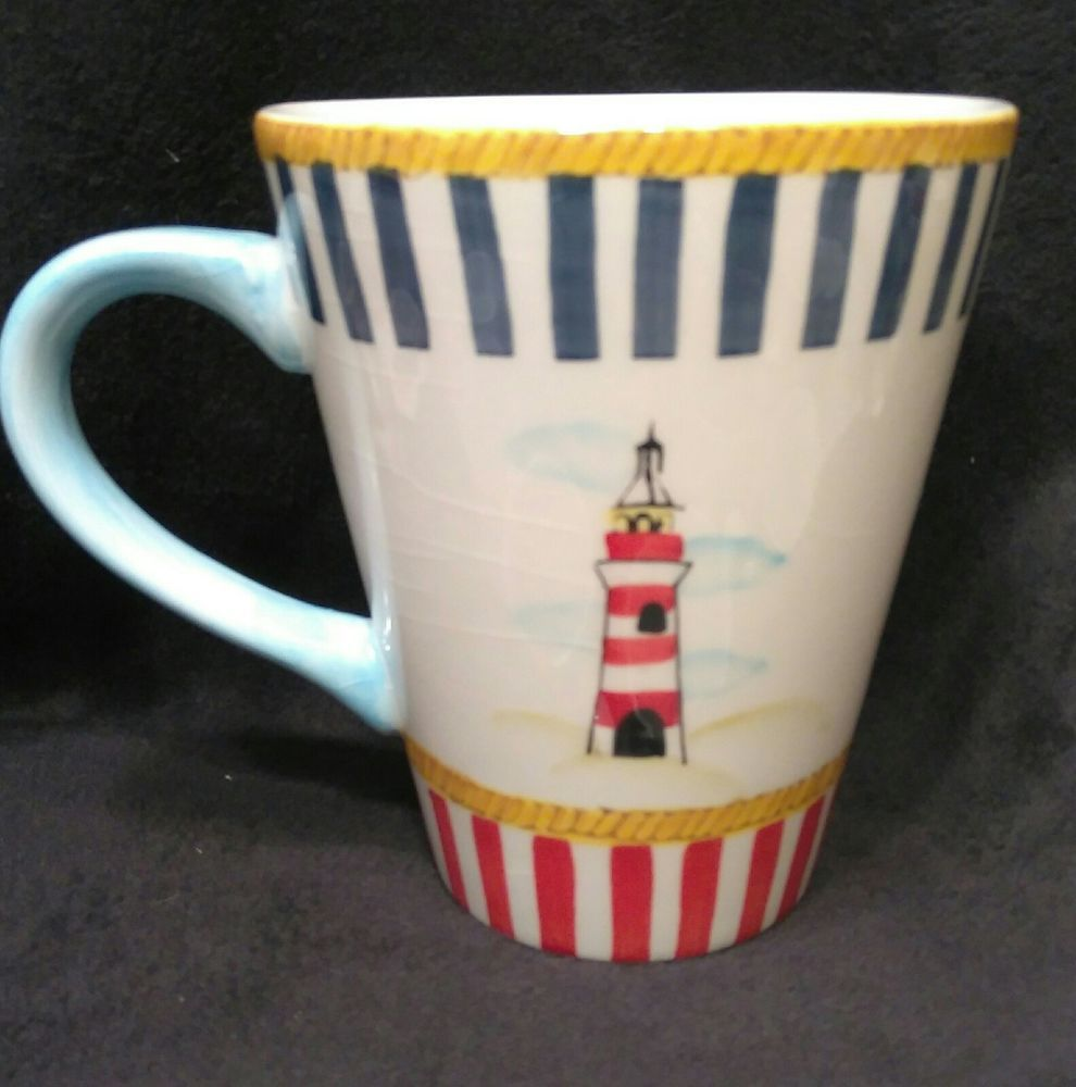 Sweet Olive Designs Nautical Themed Lighthouse Coffee Mug Cup Sweetolivedesigns