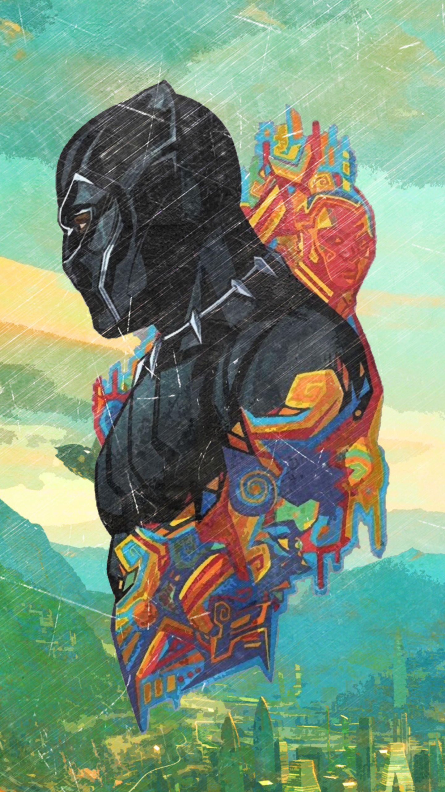 Black Panther Artwork Wakanda Black Panther Superhero Black