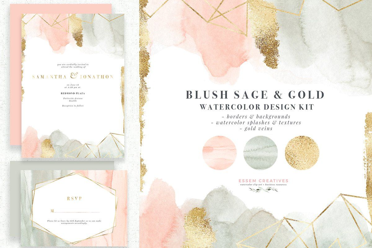 Blush Sage Gold Vein Watercolortextures  textures patterns  textures drawing  textures for edits  textures photography